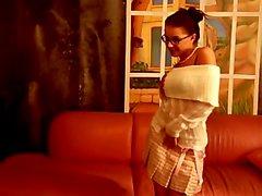 Conservative Schoolgirl Strips Down
