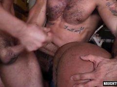 Big Dick Homosexuell Oralsex und Gesicht