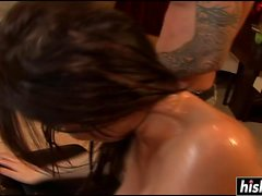 Eva Karera gets a stiff shaft