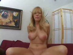 Blonde Mom fucked by Son friend