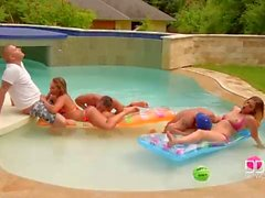 DDF Network Bikini babes ass fucked in pool
