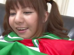 Japanese - Pigtail Teen Cutie Shaved