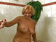 Busty grandma has hard sex with her lover