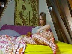 18 years old skinny schoolmate teasing
