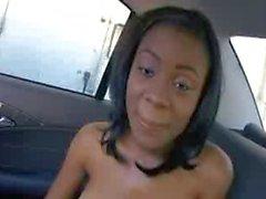 Ebony Teen fucked in a Car