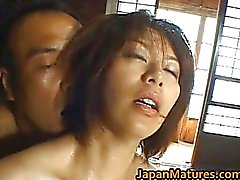 Shouda Asian mature babe gets it doggy