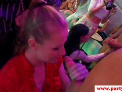 Amateur euro babes riding cock at wild party