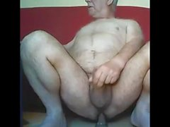 Grandpa cum sur webcam