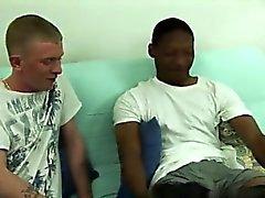 Impresionante de movida gay Sean extraiga un chirrido que Jamal le lamió la