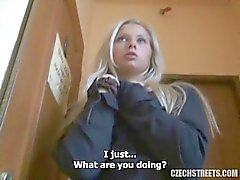 Czech Streets - Veronika blond babe