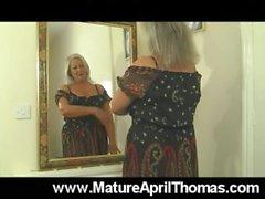 Mature Slut Teases In Evening Dress