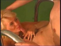 Hot russian mature blonde milf fucks by the pool