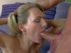 Pigtailed hottie Natasha Starr gets a fuck