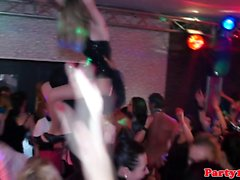 European party teens have an orgy in the club