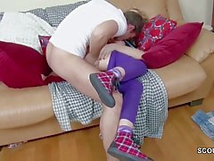 Bro Seduce Petite Virgin 18yr old Step-Sister to First Fuck