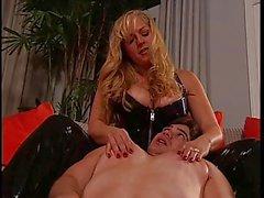 Big tits blonde explains about BDSM