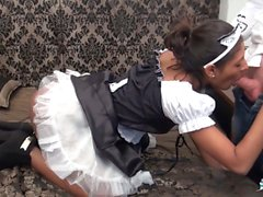 La Cochonne - Maid sex fantasy comes true with a French teen