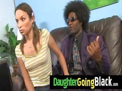 Watch my young girl going black 1