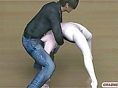 La servidumbre por de 3D hentai se las tetas reduciendo y sesenta y nueve de estilo oralsex