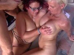 Reife Swinger - Wild German threesome with mature swingers
