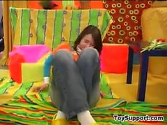 Sweet Teen Strips And Masturbates With A Toy