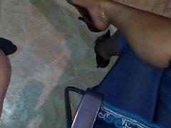 Dangling mature ebony part1
