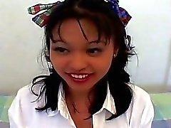 Asian Schoolgirl Learn To Fuck