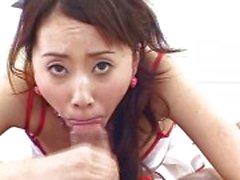 Kiimainen japanilainen sairaanhoitaja haluaa cum