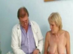 Mature old Brigita getting pussy exam from experienced gyno ...
