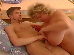bbw granny with horny boy part 1