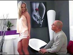 Czech blonde Vinna Reed fucks an old guy