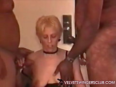Velvet Swingers Club MILF loves BBC threesome Cuckold hubby
