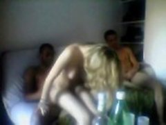 Amateur Blonde Frau Threesome
