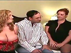 Geile BBW Cougars Take On Lucky Man