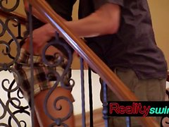 Chilling swinger blowjob done by a lustful couple