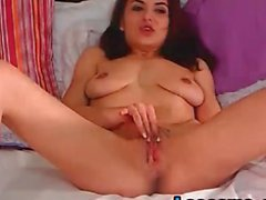 Milf brunette masturbating on Arabic music