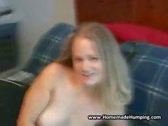 Busty Amateur GF Sucks Cock
