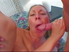 Blonde likes black and white cock
