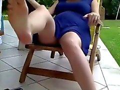 Voyeur 19 , Een zwangere moeder rusten , geen slipje ( MrNo )