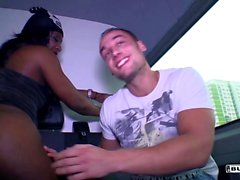 Bums Bus - German Josy Black riding dick in the back of a van