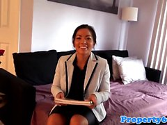 Asian realtor punished by throatfuck session