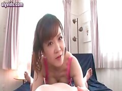 Lascive asian babe getting facial