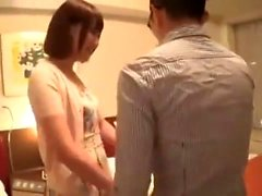 Lovely Japanese teen masturbates her tight Asian p