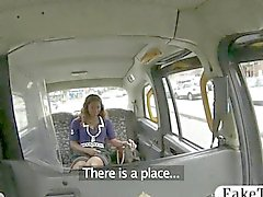 Fraudulent taxi driver fucks an ebony chick