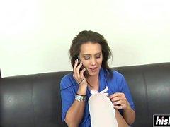 Bridgette Michaels valkoisissa sukkeleissa särkyy
