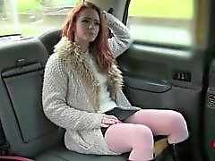 Taxi hardcore sex with a skinny blondie slut