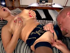 Hot milf and her younger lover 319
