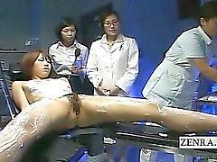 Legendada CFNF modelo lesbian massage japoneses pelos enfermeiros