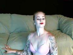 DaringSex Big Tit Babe in Lingerie Lounge