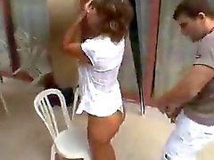 yasmine dans la terrasse